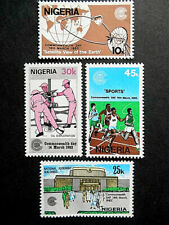Nigeria 1983 Commonwealth Day set SG 448-451 MNH; Telecoms, Sport, Oil, Building