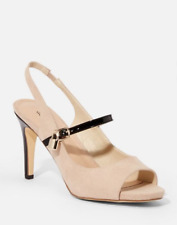 JustFab Sophie Peep Toe Pump Color: Natural Size: 7.5 (M) Brand New