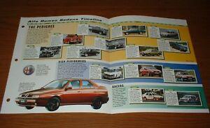 ★★1946-99 HISTORY OF ALFA ROMEO SEDANS BROCHURE 46-99 AF Giulietta Turbo 156★★