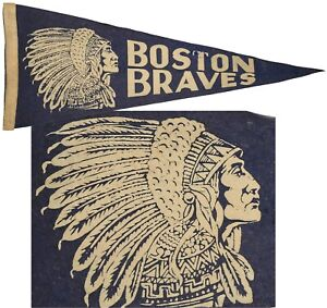 ⭐RARE⭐ Antique ⭐ Boston Braves ⭐ Pennant ⭐
