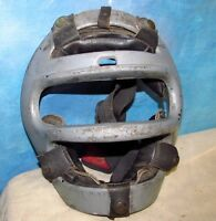 Vintage RAWLINGS Aluminum/Metal Catcher's Mask w/Leather Straps J646