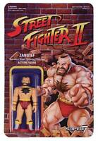STREET FIGHTER 2 ZANGIEF REACTION 3.75 INCH Action FIGURE SUPER 7 new!