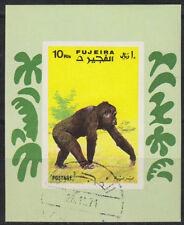 Fujeira 1971 Bl.80 B fine used c.t.o. Affen Monkeys Tiere Animals Fauna Pavian