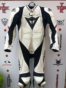 Genuine Dainese Laguna Seca 1 piece race suit with hump uk 46 Euro 56