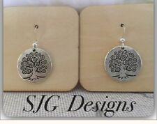 Tree Of Life - Small Earrings - Tibetan Silver