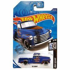 Hot Wheels 201/250 - 2020 Rod Squad 3/10 - Blue '52 Chevy Pickup Truck GHD24