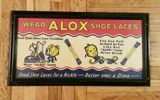 Vintage Alox Shoe Lace Advertising Sign Store Display Card Stock Poster Framed