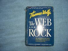 THE WEB AND THE ROCK by Thomas Wolfe/1st Ed/HCDJ/Literature/Fiction/Romance