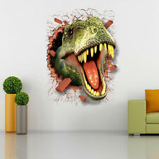 Hi-Q 3D Jurassic World Park Dinosaurs Wall Stickers Room Decor Wall Decals