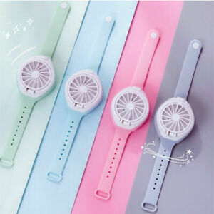 Watch Fan USB Rechargeable Wristband Mini Portable Fan Indoor Outdoor Travel Fan