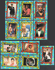 IN LIVING COLOR (Topps/1992) TV SHOW Complete Sticker Card Set (11) JIM CARREY