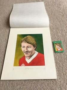 1978 Original Artwork Jimmy Case Liverpool FC as used by Cornish Match Co