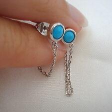 1.00ct Arizona Sleeping Beauty Turquoise Drop Earrings