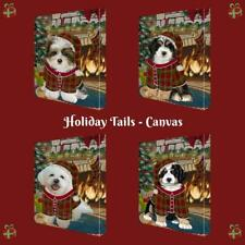 Christmas Stocking Hung Dog Cat Pet Photo Canvas Wall Art Décor 24x36 In