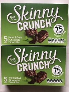10 Bars of Guilt Free Skinny Crunch Mint & Dark Chocolate Snack Bars