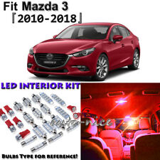 7 x Red Interior LED Light Package Kit for Mazda 3 Sedan Hatchback 2010 - 2018