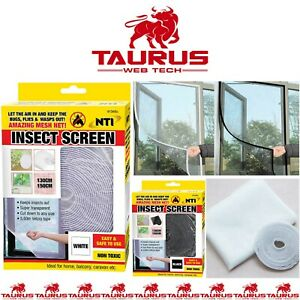 New BLACK-WHITE Window Screen Mesh Net BUG MOSQUITO FLY INSECT MOTH DOOR NETTING