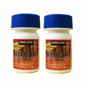 KIRK LAND Sleep Aid - 2 Bottles (192 pills) with Expiration Year 2023 by Costco