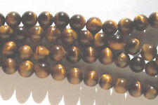 10 x 8 mm tiger's Eye Quartz Round Beads-Beads For Jewellery and Crafts