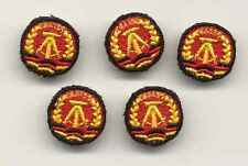 5 Stück DDR Mützenkokarde Textil, neuw. NVA MdI Volkspolizei Trapo KG