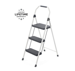 Gorilla Ladders 3-Step Compact Steel Step Stool with 225 lb. Load Capacity Type