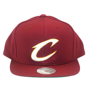 Cleveland Cavaliers Mitchell and Ness Wool Solid Snapback Maroon
