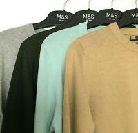 ex M&S Mens Jumper 100% Cotton Soft Regular Fit BNWOT Marks