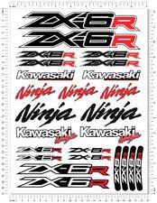 Kawasaki Ninja Racing ZX-6R Motorcycle Decals Fairing ZX6R Laminated Stickers