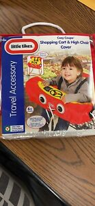Little Tikes Racecar Shopping Cart & High Chair Cover Baby Red Cozy Coupe DEALS