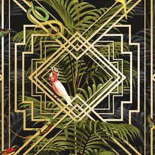 CONGO Papel Pintado Geométrico Negro - Holden 90202 Tropical