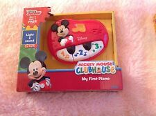 Disney Junior Mickey Mouse Club House My First Piano  NEW 12M+ light and sound