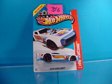 #316 HOT WHEELS HW RACING NITRO DOORSLAMMER #103 WHITE/BLUE GRAPHICS NEW ON CARD