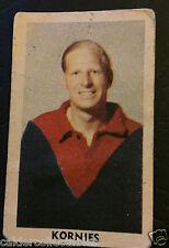 1949 KORNIES VICTORIAN FOOTBALLERS CARD MAX SPITTLE MELBOURNE CARD # 80 VFL