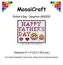 "MosaiCraft Pixel Craft Mosaic Art Kit ""Father's Day Daughter"" Pixelhobby"