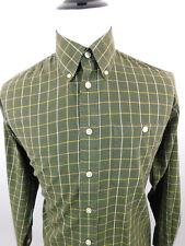 Orvis Men's Long Sleeve Plaid Button Down Dress Shirt sz M Dark Green