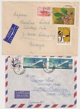 2 COVERS  POLOGNE POLAND TO SWEDEN. L593