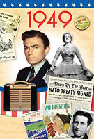 70th BIRTHDAY GIFT - 1949 Time of  Life DVD Card and Year Greeting  Card