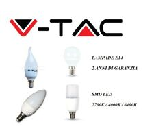ILLUMINAZIONE LED V-TAC LAMPADINA BULBO ATTACCO E14 3W 4W 5.5W 6W 7W 9W SMD LED