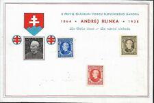 Slovakia, Souvenir sheet Andrej Hlinka