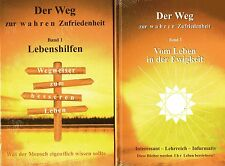DER WEG ZUR WAHREN ZUFRIEDENHEIT Teile 1-3 - Hans Dieter Sonntag 3 x BUCH SET
