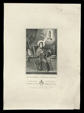 santino incisione 1800 S.BONAVENTURA DA BAGNOREGIO