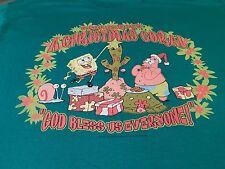 "Spongebob's_A Christmas Coral_""God Bless Us Everyone!"" '01 (Size: L) Hanes 50/50"