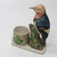 Vintage 1979 Jasco Luvkin SongBirds Collection Porcelain Toothpick Holder (JJ)