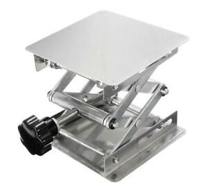 "New 100x100mm 4"" Stainless Steel Lab Lifting Scissor Jack Platform Stand"