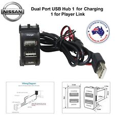 Car 5V 2.1A USB Interface Socket Charger & Audio input use for NISSAN