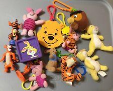 Vintage Disney Winnie The Pooh Plush Lot Huge Bundle Keychains Piglet Tigger