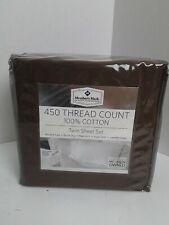 MEMBER'S MARK 450 THREAD COUNT SHEET SET, brown, TWIN