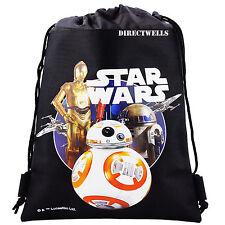 Disney Star Wars Robot Black Drawstring Bag School Backpack