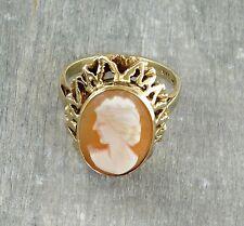 Gemme Kamee Ring aus 333 Gold (gestempelt)