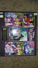 Disney Villains Jigsaw Puzzles 5 Pack ~ 300 500 750 Piece